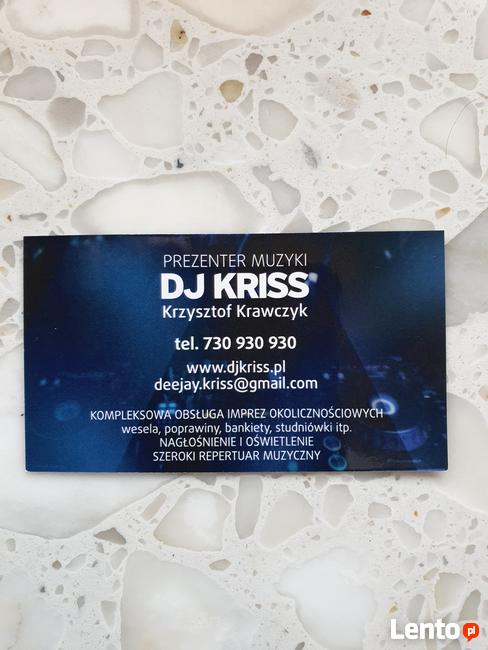 Prezenter muzyczny DJ Kriss ---Krzysztof Krawczyk