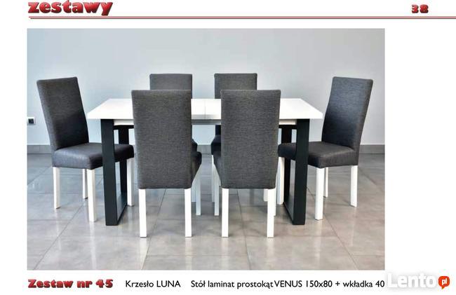 Zestaw, Stół + 6 krzeseł-Tanio!
