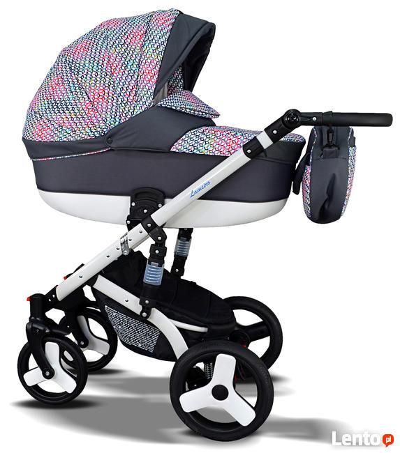 Nowy Wózek Dziecięcy Lameiro zestaw 3w1 Fotelik babeboss