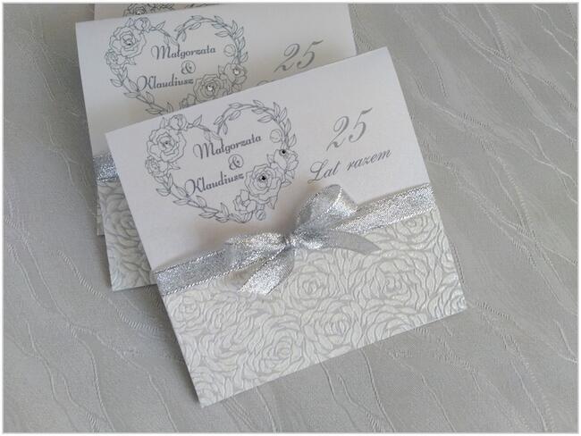 Zaproszenia na 25 rocznicę ślubu