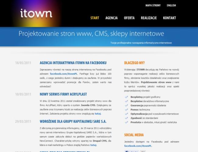 Projektowanie stron www, CMS
