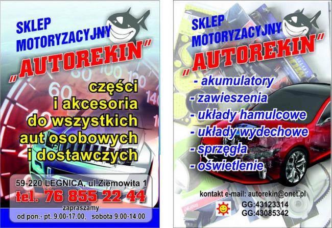 Sklep motoryzacyjny AUTOREKIN Legnica ul. Ziemowita 1