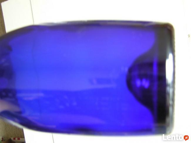 Szafirowa OGROMNA butelka Wazon sygnowana