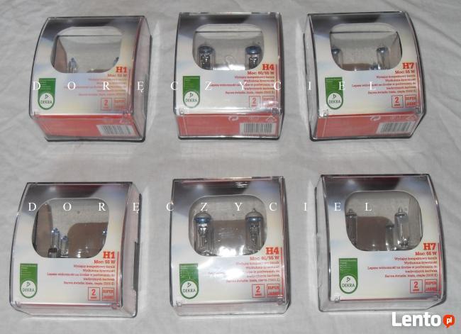 Żarówki samochodowe H1, H4, H7