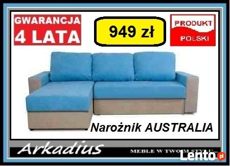 Narożnik AUSTRALIA Kanapa Meble Producent TRANSPORT GRATIS!