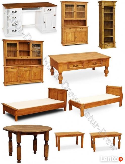 Biurko 37 z Drewna Litego od PRODUCENTA ,Meble z Drewna