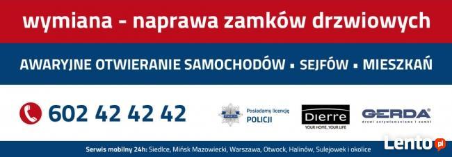 ŚLUSARZ OTWOCK SERWIS DRZWI 602 42 42 42