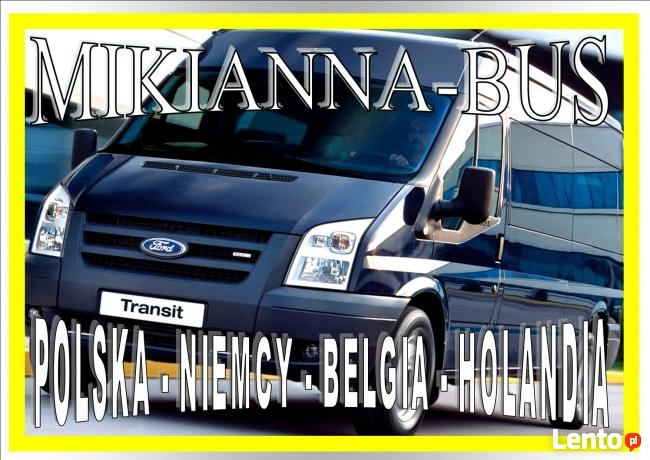 Busy do Holandii Leszno,Głogów,Kalisz,Ostrów Wlkp,Nowy Tomyś