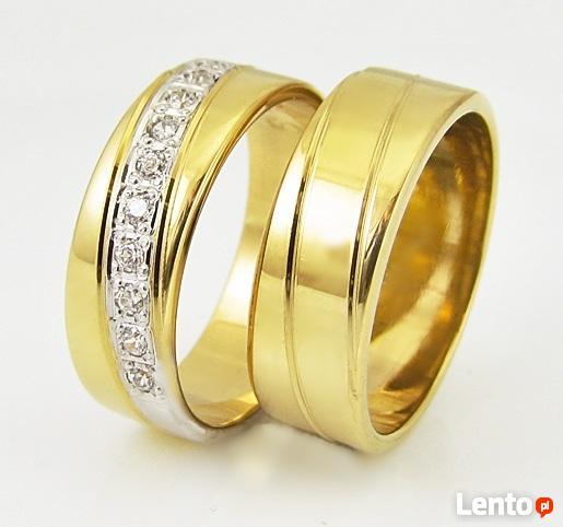 Złote obrączki, obrączki śluben, obrączki od producenta.