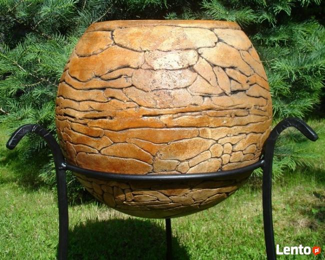 Sprzedam kule ogrodowe, ceramiczne, mrozoodporne 40,28,16 cm