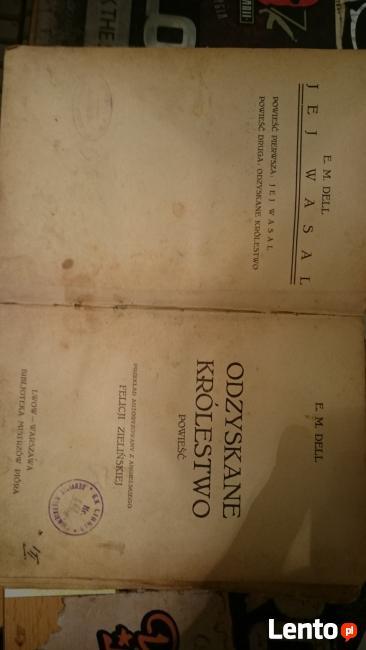 Wspaniały SPRZEDAM STARE KSIĄŻKI 1899 r. REYMONT E.M.Dell Reid 1906 r CX75