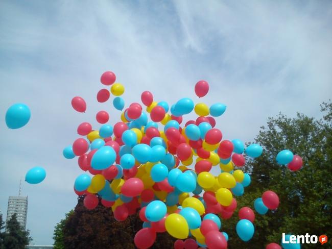 Balony z helem Łodz hel do balonów brama balonowa girlanda