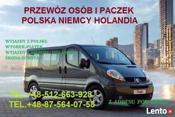 Przewóz osób i paczek Niemcy Holandia Polska