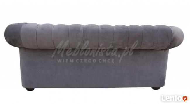 Sofa Chesterfield Classic - plusz, materiał, tkanina