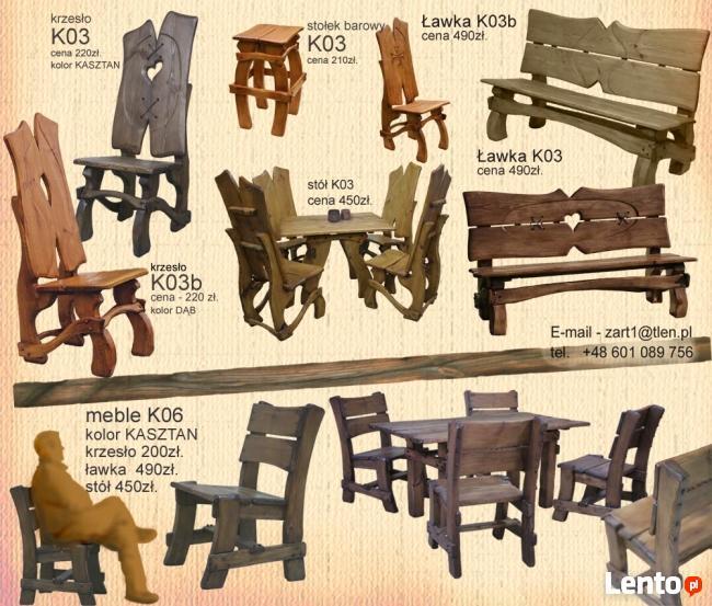 Drewniane meble ARTstyle, solidne i bardzo trwałe,
