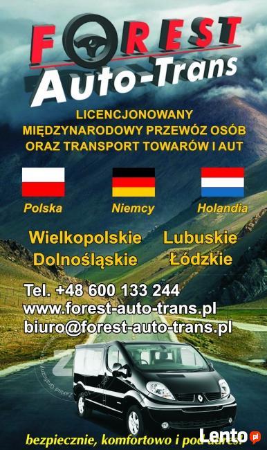 Przewozy Busy Niemcy Holandia Głogów Wschowa Sława Nowa Sól