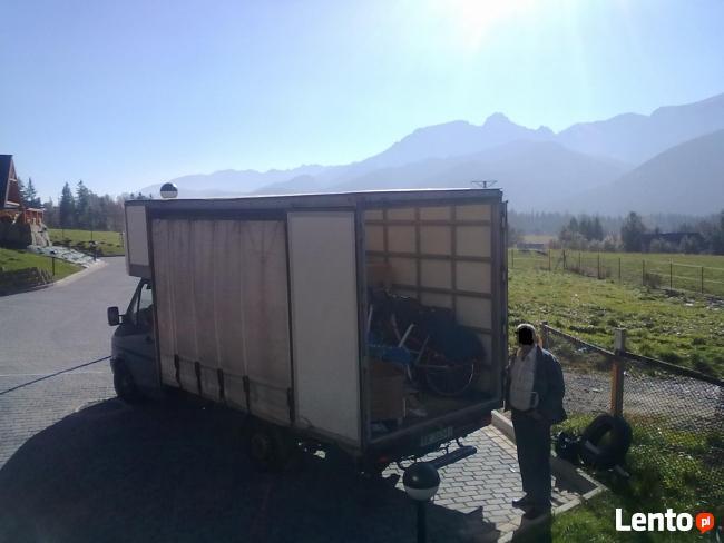Przeprowadzki, transport od 0,80 gr/km, 3 osobowa ekipa.