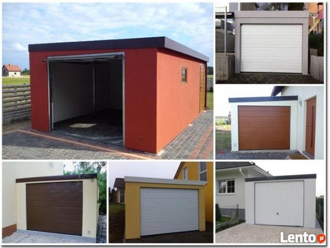 Garaż metalowy, blaszany tynkowany jednostanowiskowy