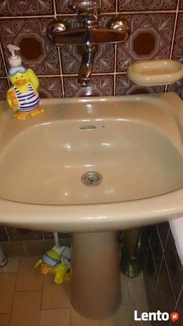 Komplet umywalka + postument (noga) kolor beżowy