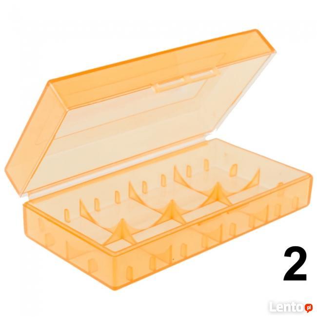 Pudełko na baterie CR123A przezroczyste 18650 17670 16340 6