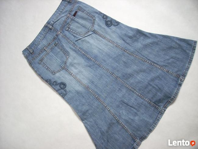 Gersha Jeans Dżinsowa spódnica Haftowana Midi 36