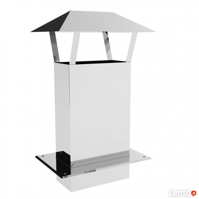 Przedłużenie komina z daszkiem 14x14/50 cm
