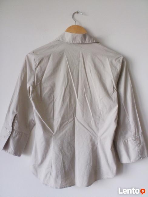 elegancka jasno beżowa koszula H&M M/L