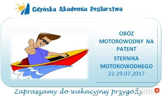 Obóz z kursem na patent sternika motorowodnego Dla młodzieży