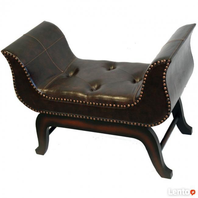 nowa kolonialna ławka siedzisko pufa