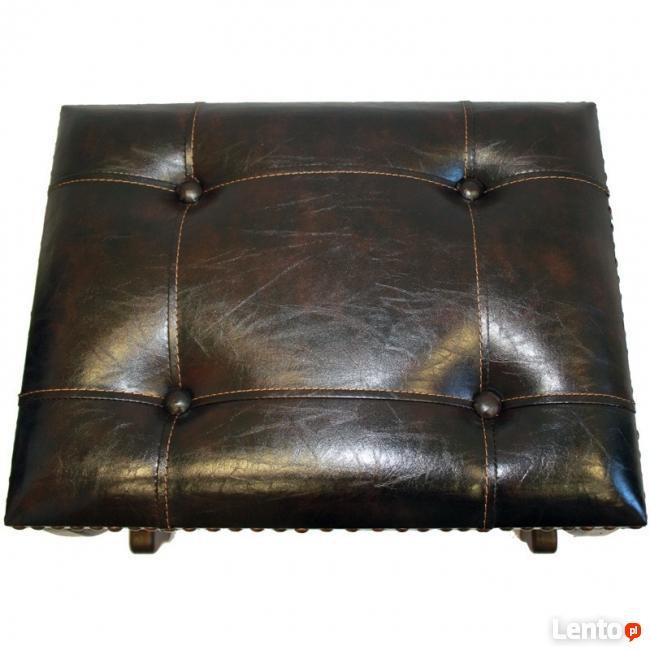 nowy kolonialny pikowany taboret krzesełko krzesło
