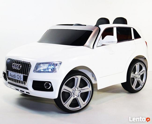 Audi Q5 auto na akumulator, miękkie koła, otwierane drzwi