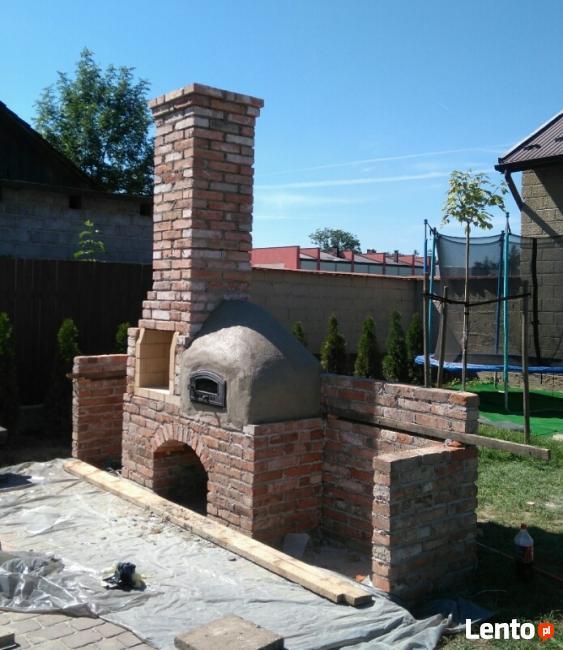 Grill ogrodowy, gril z wędzarnią i chlebowym