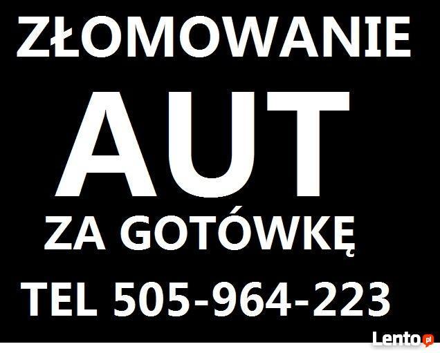 Złomowanie Aut tel.505964223 Gdańsk, Trójmiasto pomorskie