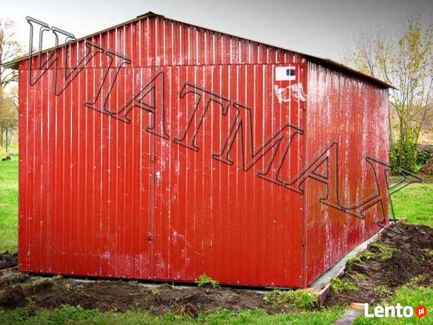 Garaż blaszany 2 x 3 m,dwuspadowy,drewnopodobny,producent