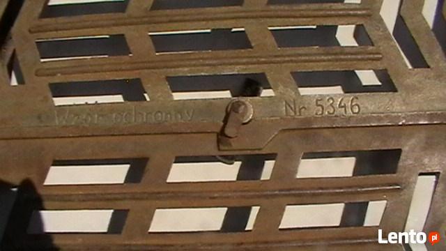 Ażurowe żeliwne secesyjne drzwiczki,piec,kominek gril