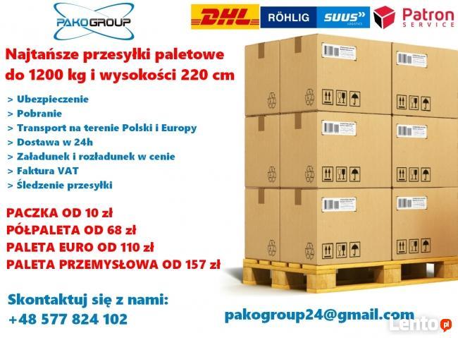 Najtańsze przesyłki paletowe do 1200 kg od 68 zł