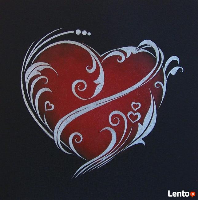 Serce ręcznie rzeźbione w blasze Oryginalny prezent na urodz