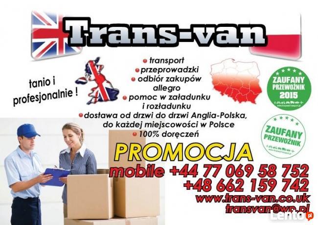 Transport Polska-Anglia TRANS-VAN Kędzierzyn-Koźle, Opole, N