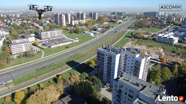 Filmowanie dronem, fotografie z powietrza, inspekcje dronem