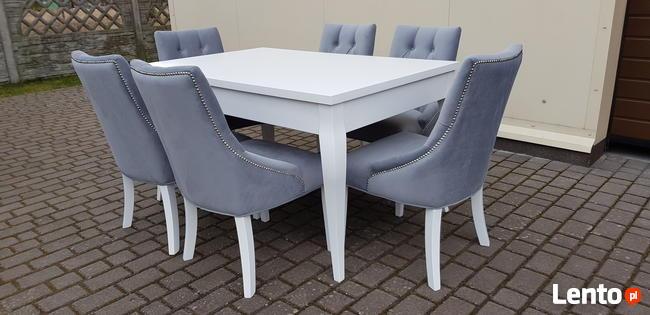 Krzesło pikowane modne glamour chesterfield Producent nowe