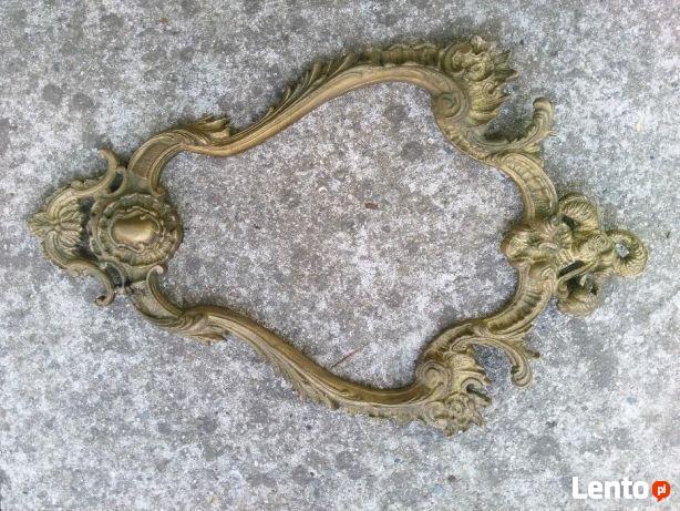 Mosiężna rama Rococo ,piekna Oryginał !!!