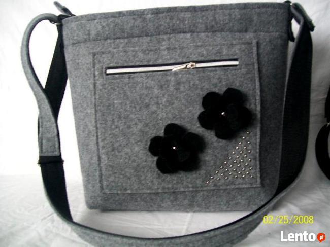 Torba  torebka  listonoszka z  filcu  filcowa A4