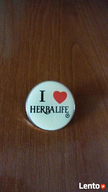 Herbalife odchudzanie zdrowotne przypinki znaczki