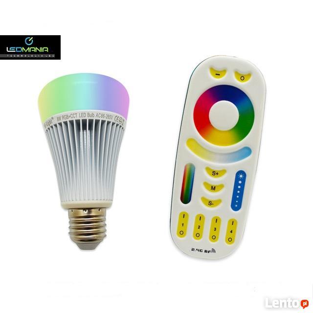 MILIGHT żarówka E27 8W+PILOT RGB CCT 230V WIFI RF