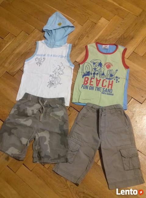 Ubrania na szczupłego chłopca r.98/104