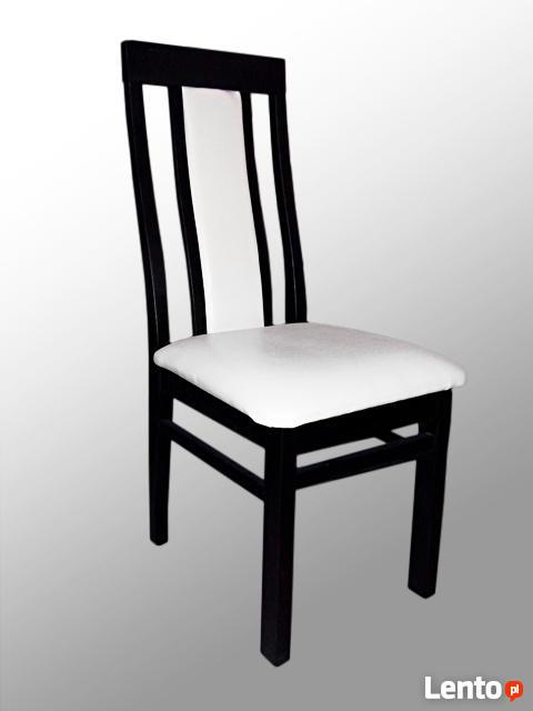 Stół z litego drewna 160 cm/90 rozkł. do 250cm i 8 krzeseł