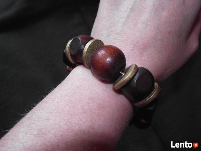 Super drewniana bransoletka Hand Made by Esmera