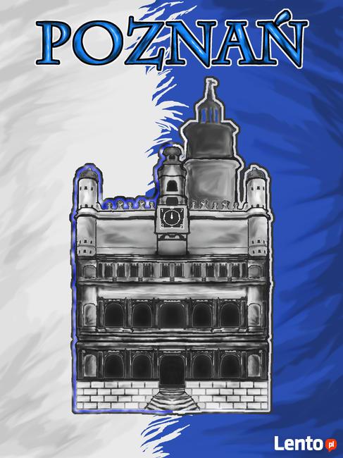 Obraz grafika 2D PoznanCityHall Poznań