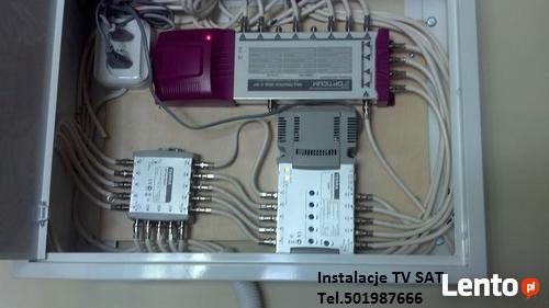 Anteny TV SAT montaż, serwis, naprawa 501987666