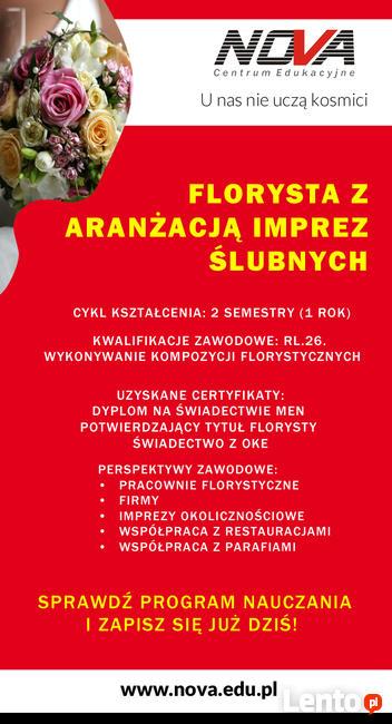 Florysta z aranżacją ceremonii ślubnych 0zł !!